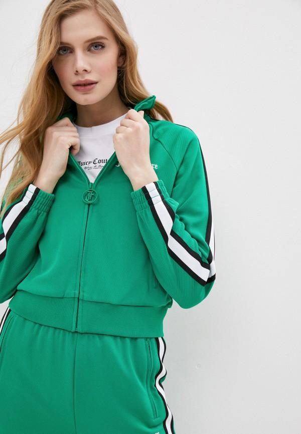 женская олимпийка juicy couture, зеленая