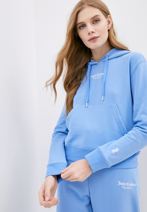 женские худи juicy couture, голубые