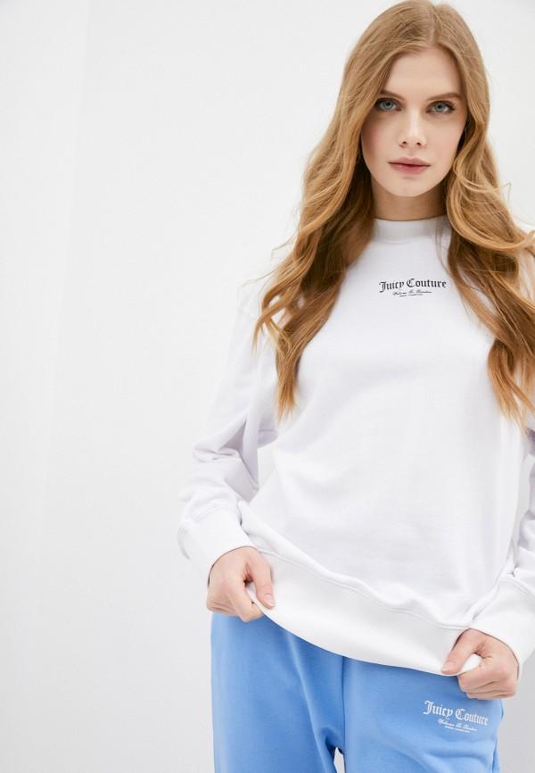женский свитшот juicy couture, белый