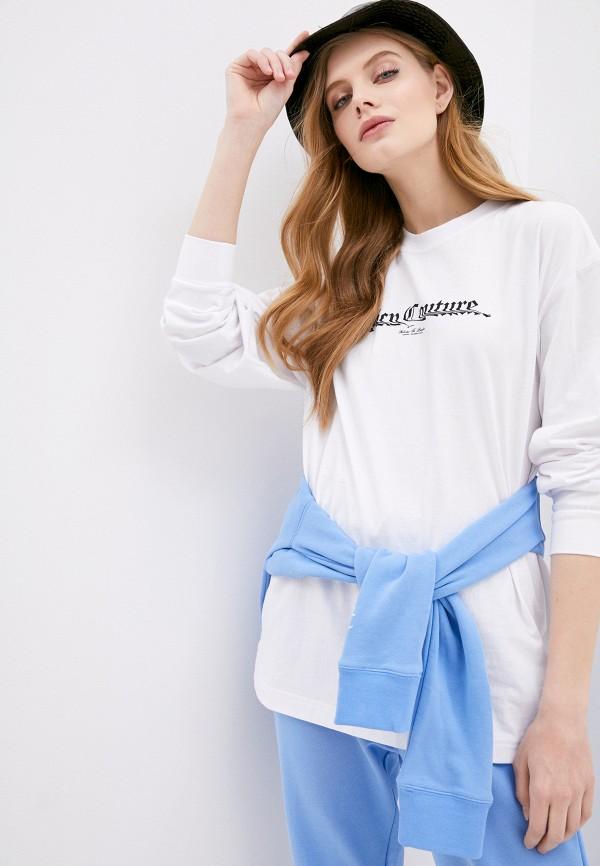 женский лонгслив juicy couture, белый