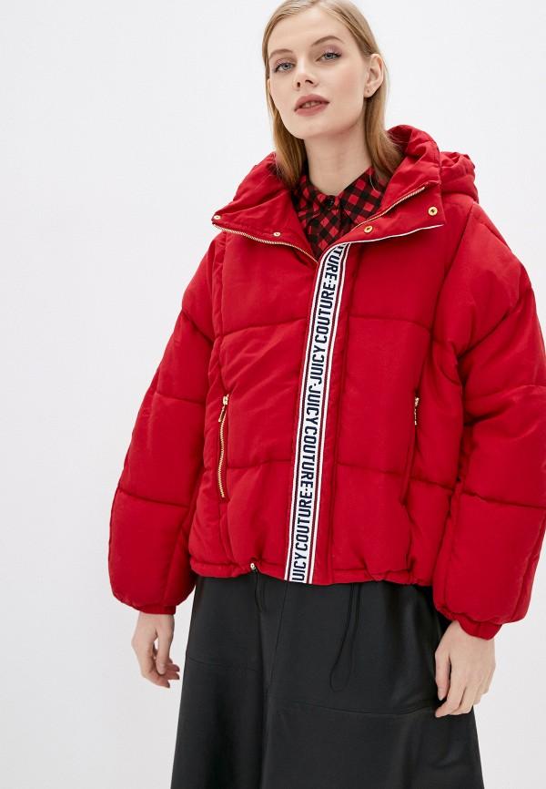 женская куртка juicy couture, красная