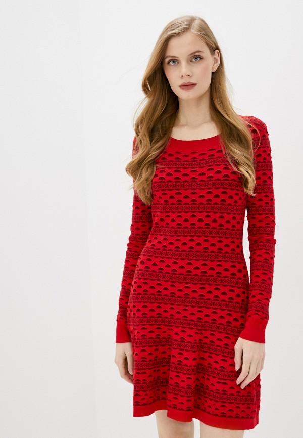 женское повседневные платье juicy couture, красное