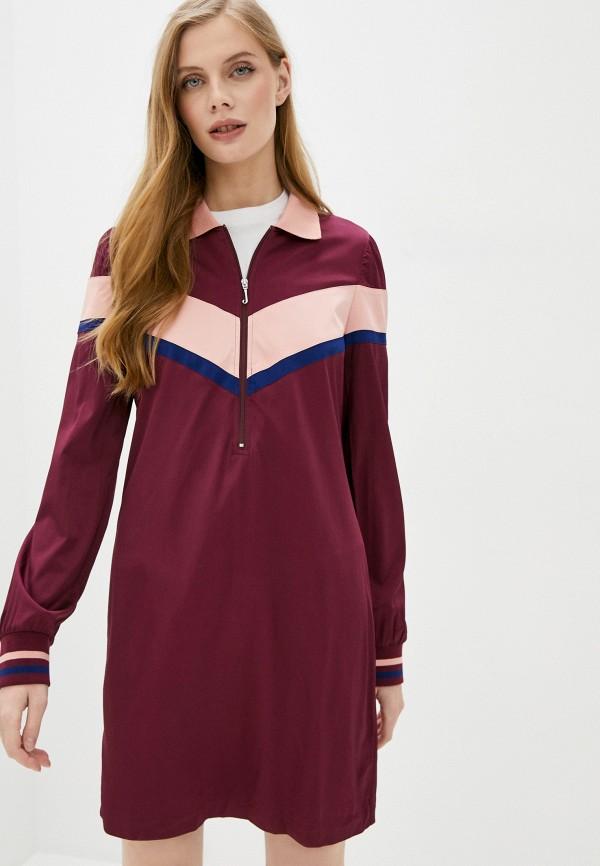 женское платье juicy couture, бордовое