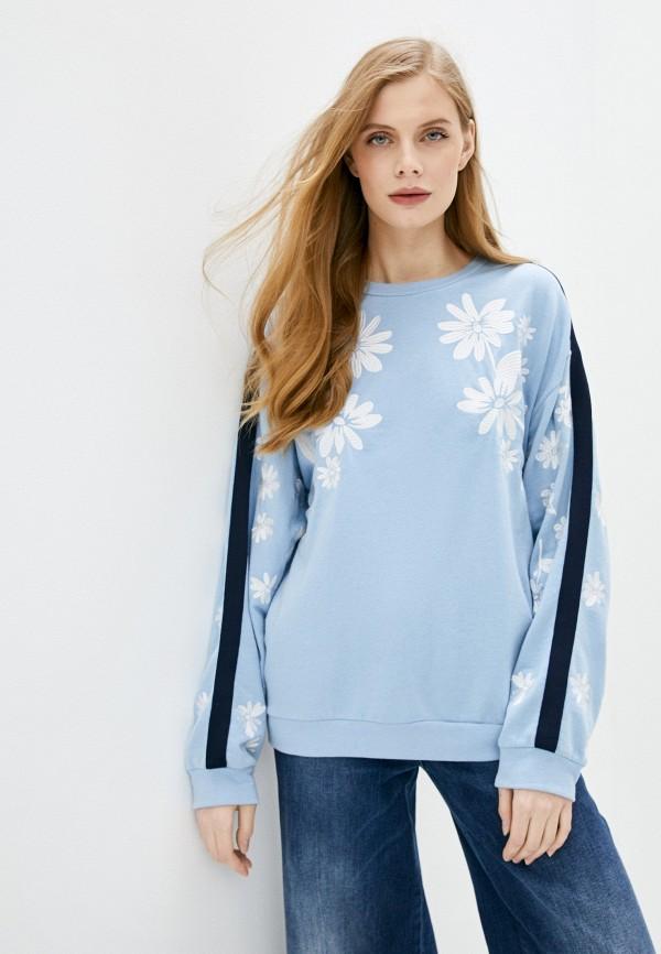 женский свитшот juicy couture, голубой