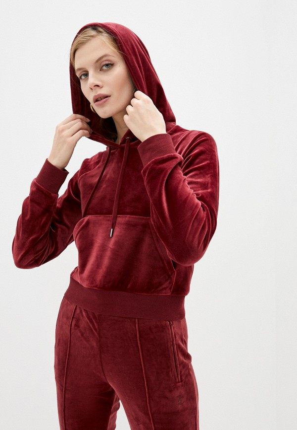 женские худи juicy couture, бордовые