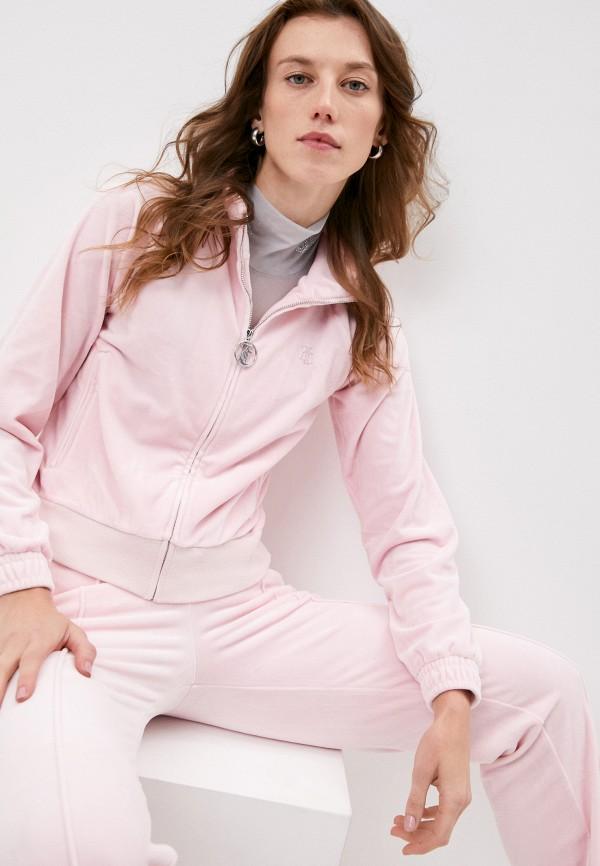 женская олимпийка juicy couture, розовая