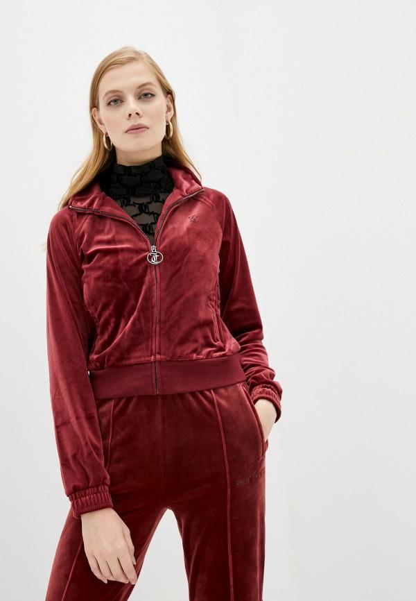 женская олимпийка juicy couture, бордовая