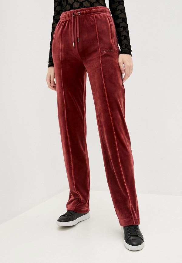 женские спортивные брюки juicy couture, бордовые