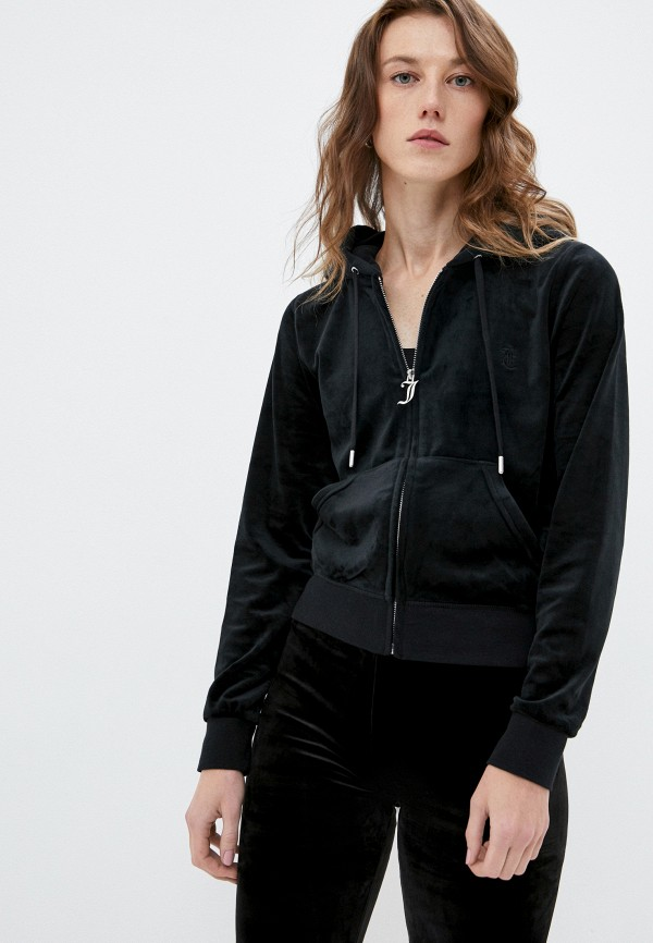 женская толстовка juicy couture, черная