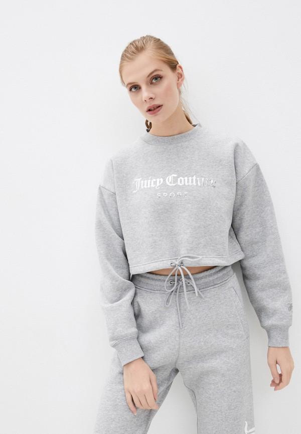 женский свитшот juicy couture, серый