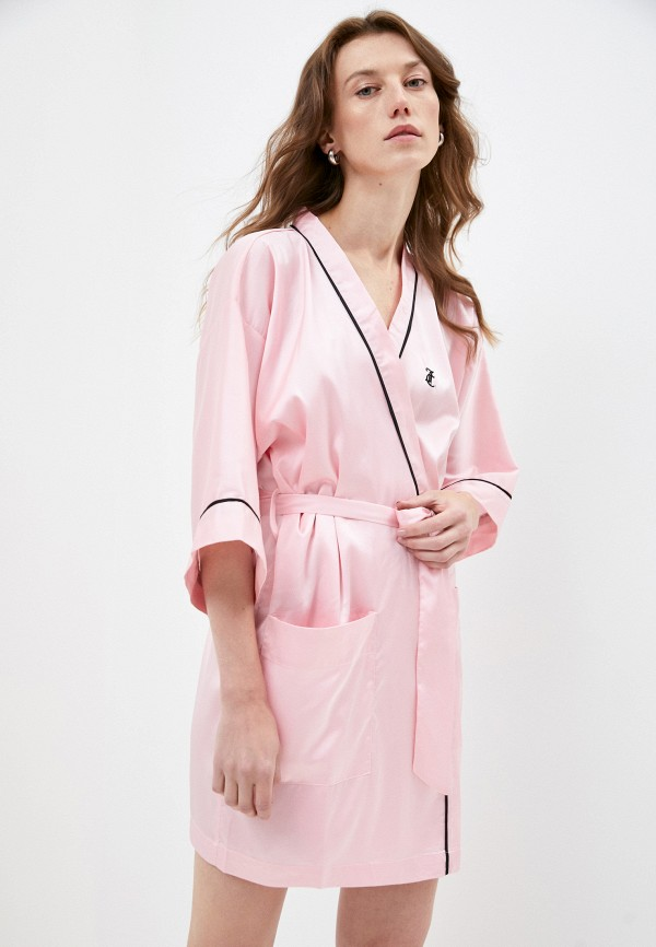 женский халат juicy couture, розовый