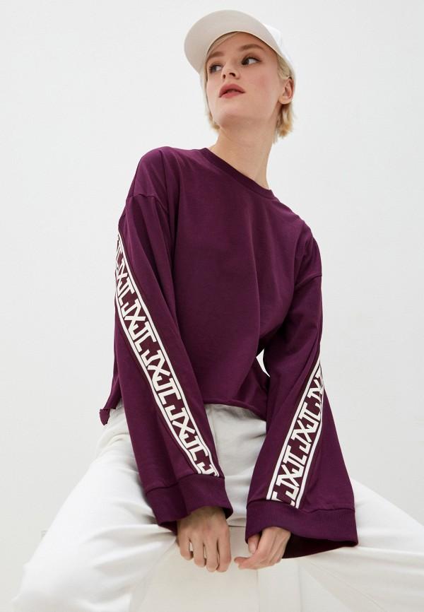 женский лонгслив juicy couture, фиолетовый