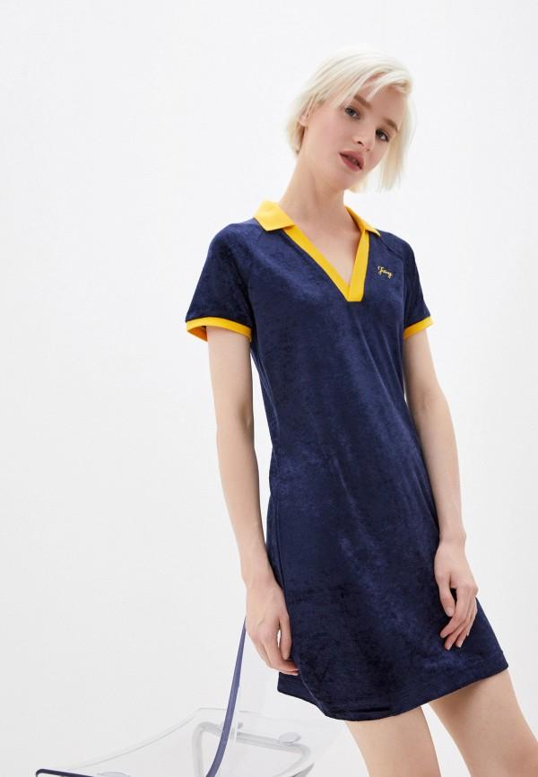 женское платье juicy couture, синее