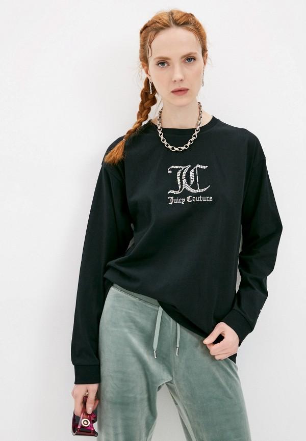 женский лонгслив juicy couture, черный