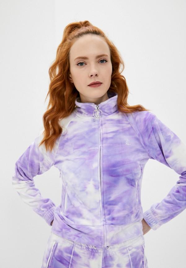 женская олимпийка juicy couture, фиолетовая