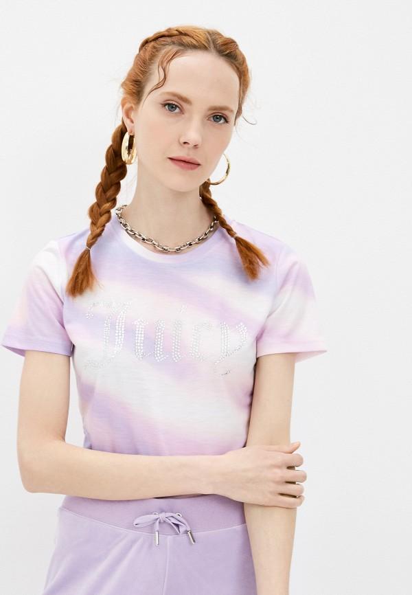 женская футболка juicy couture, фиолетовая