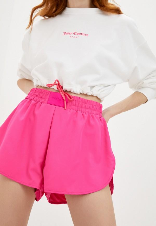 женские спортивные шорты juicy couture, розовые