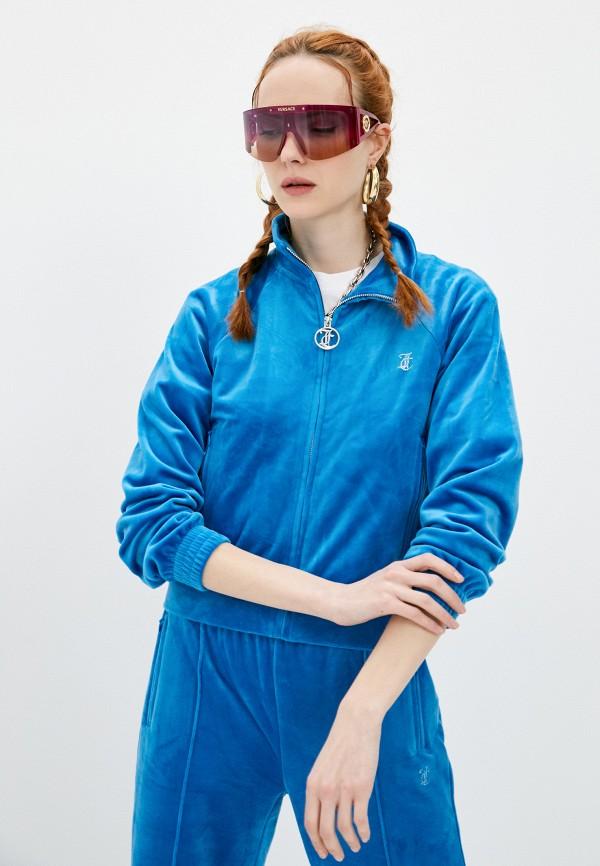 женская олимпийка juicy couture, голубая