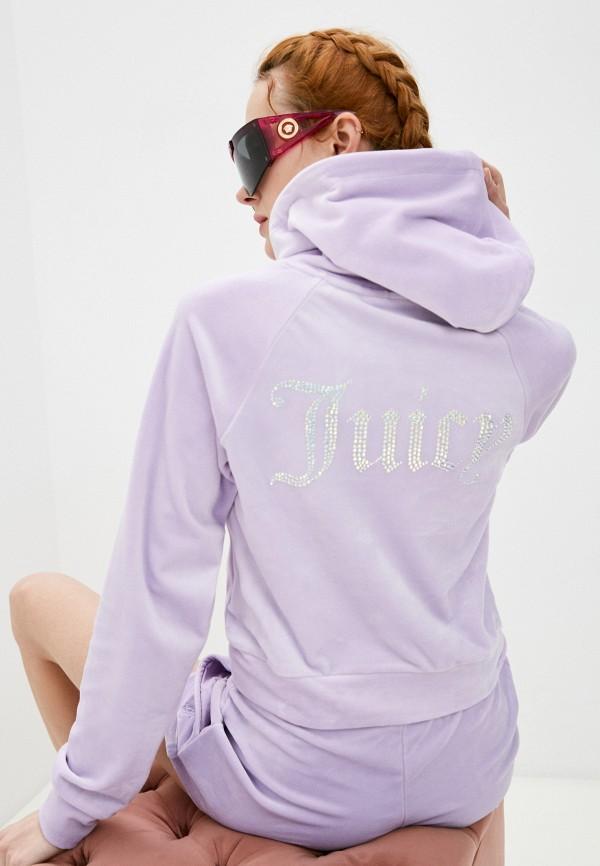 женские худи juicy couture, фиолетовые