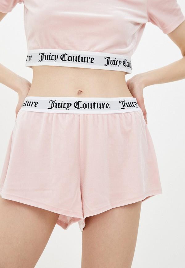 женские повседневные шорты juicy couture, розовые