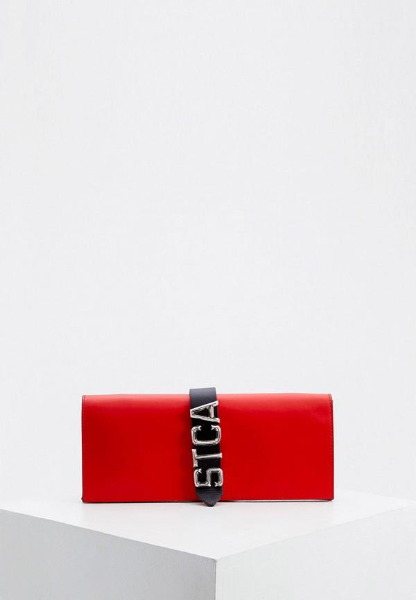 женский клатч just cavalli, красный