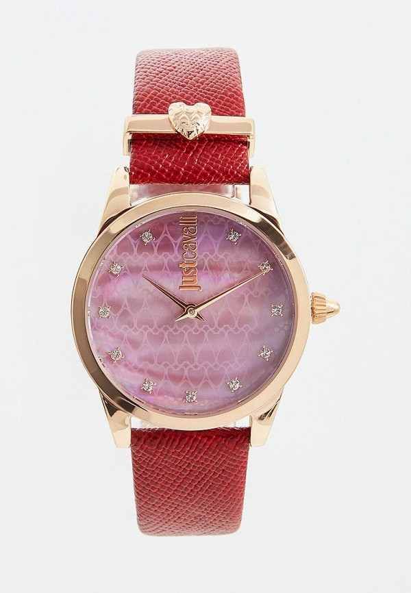 женские часы just cavalli, красные
