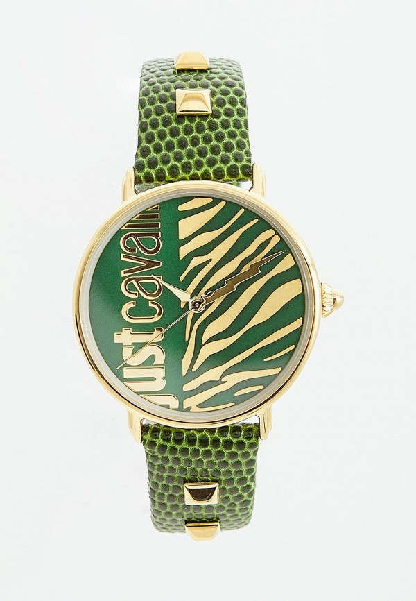 женские часы just cavalli, зеленые