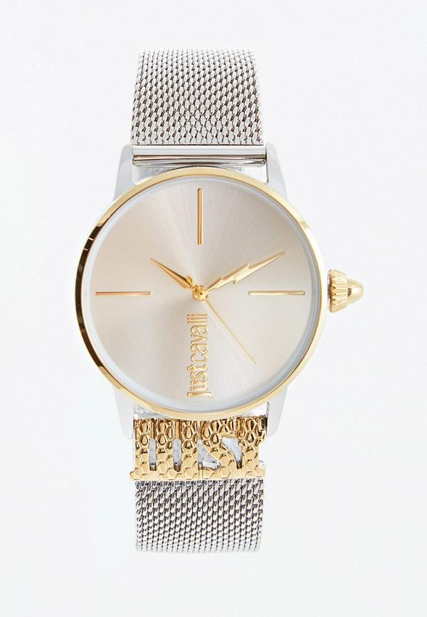 женские часы just cavalli, серебряные