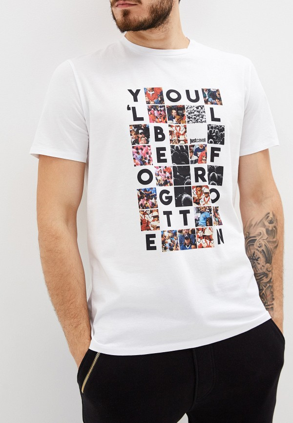 мужская футболка just cavalli, белая