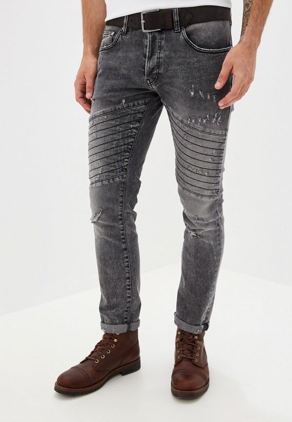 мужские зауженные джинсы just cavalli, серые