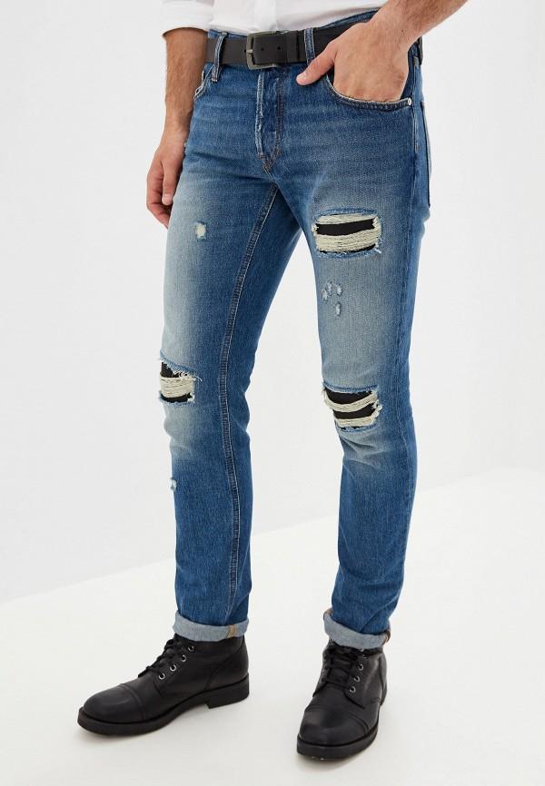 мужские зауженные джинсы just cavalli, синие