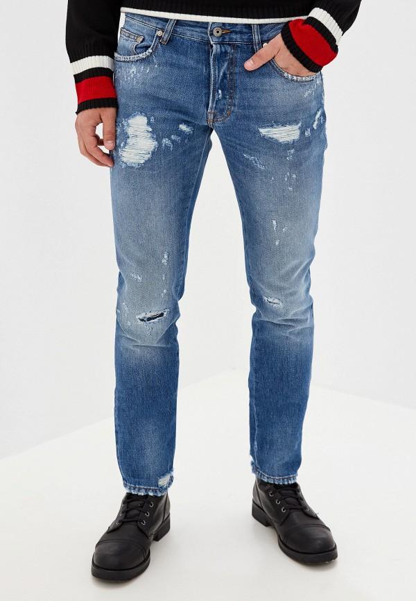 мужские зауженные джинсы just cavalli, голубые