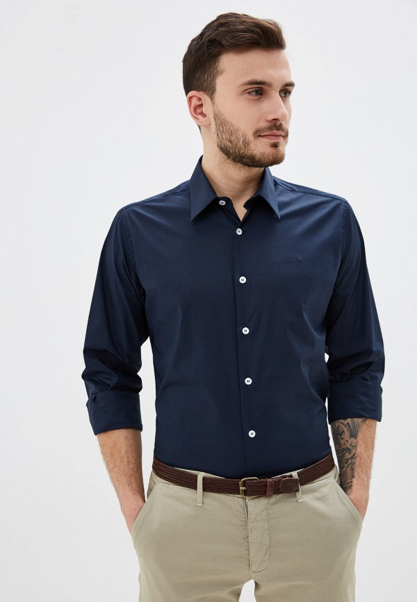 мужская рубашка с длинным рукавом just cavalli, синяя
