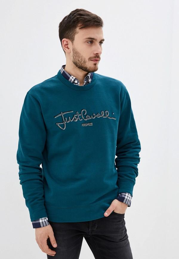 мужской свитшот just cavalli, зеленый