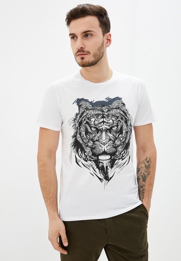 мужская футболка с коротким рукавом just cavalli, белая