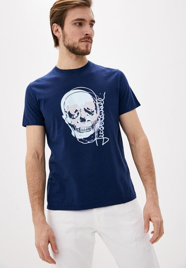мужская футболка just cavalli, синяя