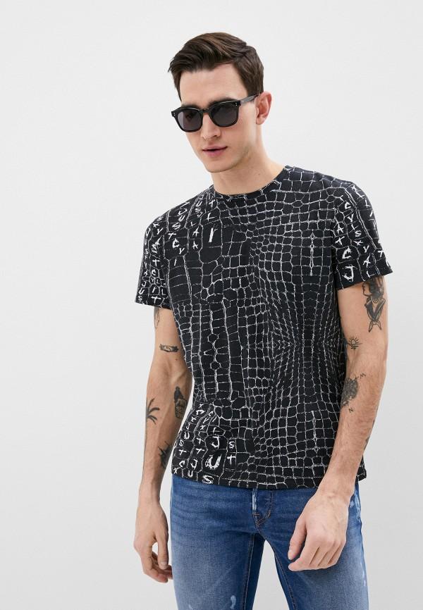 мужская футболка с коротким рукавом just cavalli, черная