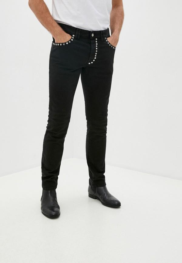 мужские зауженные джинсы just cavalli, черные