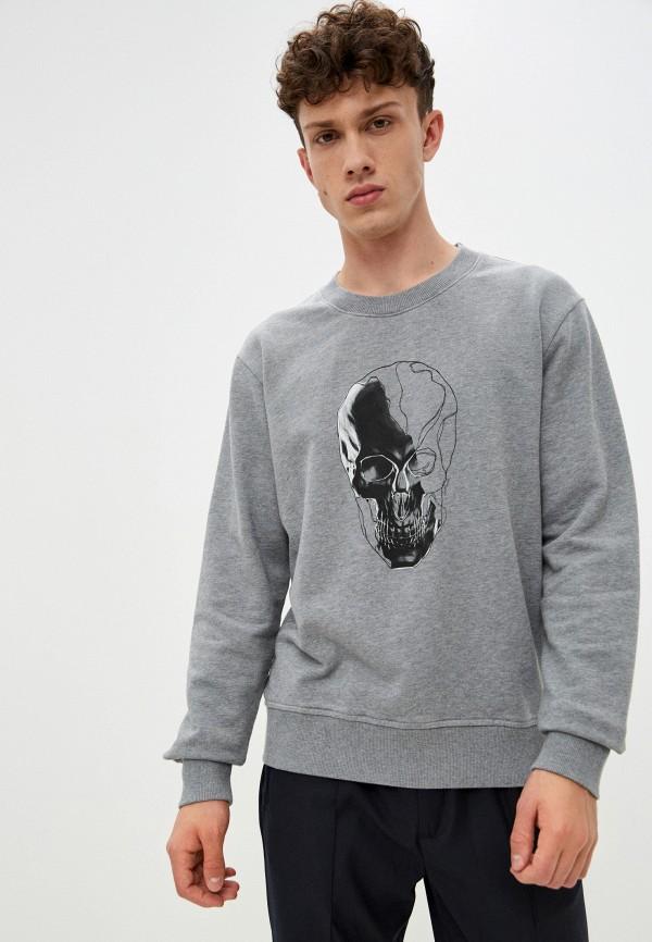 мужской свитшот just cavalli, серый