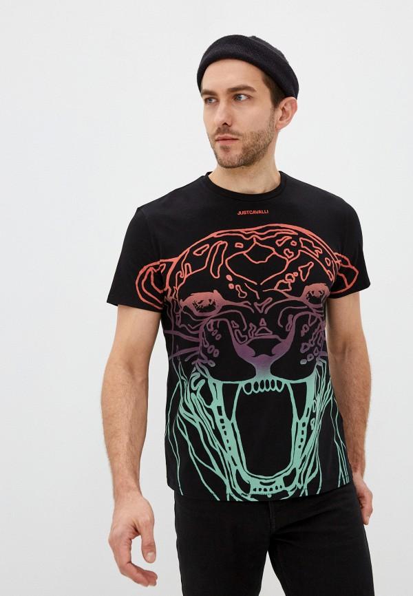 мужская футболка just cavalli, черная