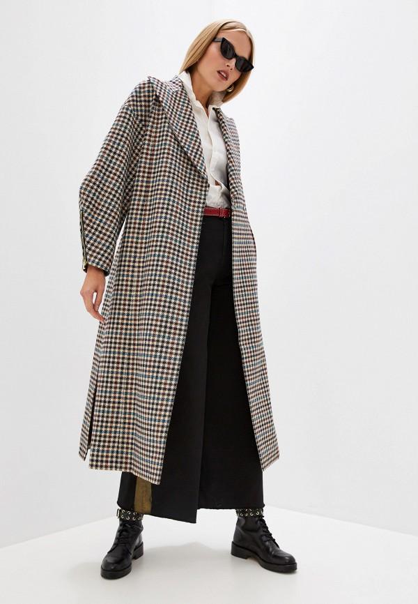 женское пальто just cavalli, коричневое