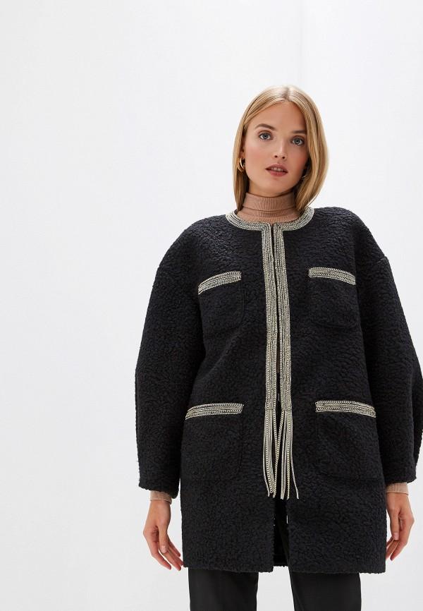 женское пальто just cavalli, черное
