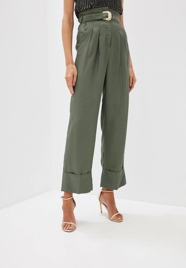 женские повседневные брюки just cavalli, хаки