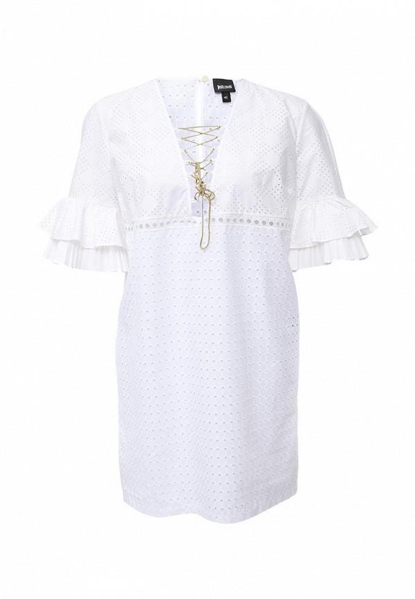 женское повседневные платье just cavalli, белое