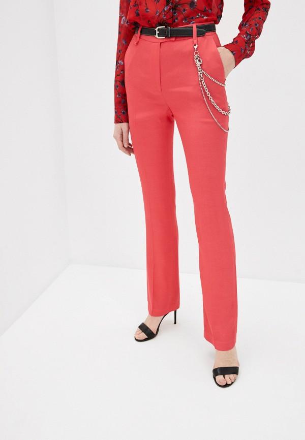 женские повседневные брюки just cavalli, красные