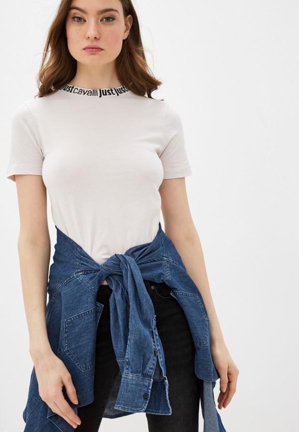 женская футболка just cavalli, бежевая