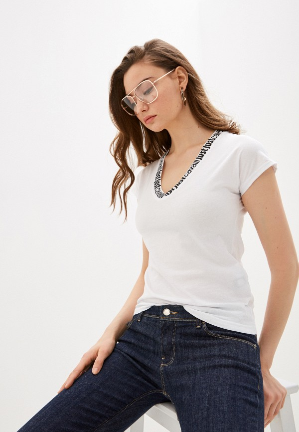 женская футболка just cavalli, белая