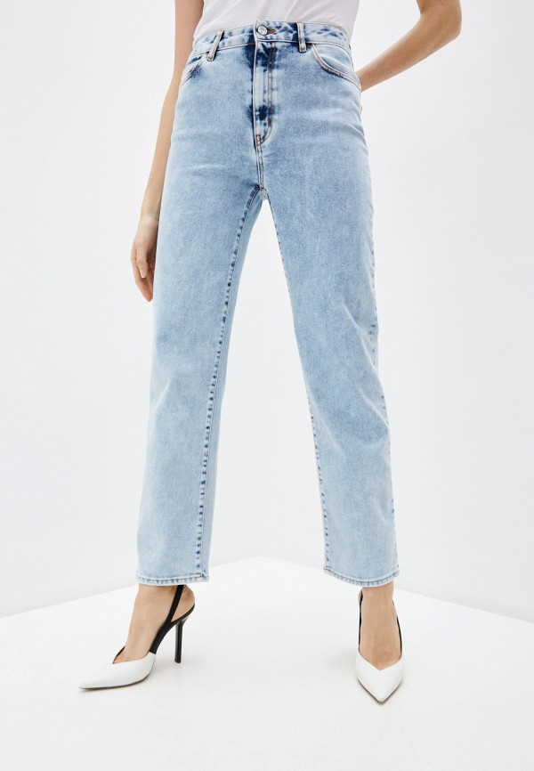 женские прямые джинсы just cavalli, голубые
