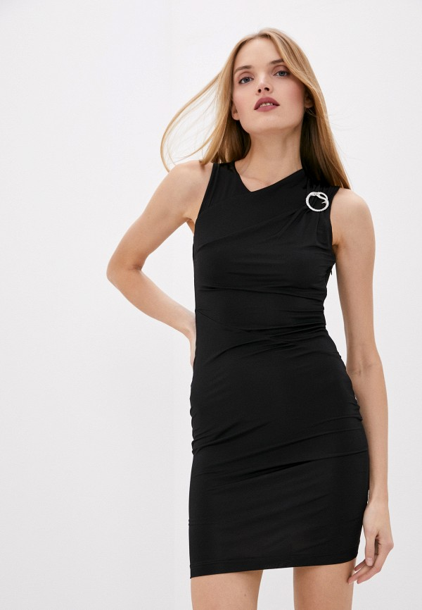 женское повседневные платье just cavalli, черное