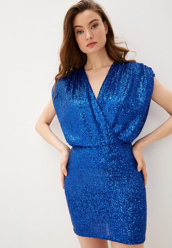 женское вечерние платье just cavalli, синее
